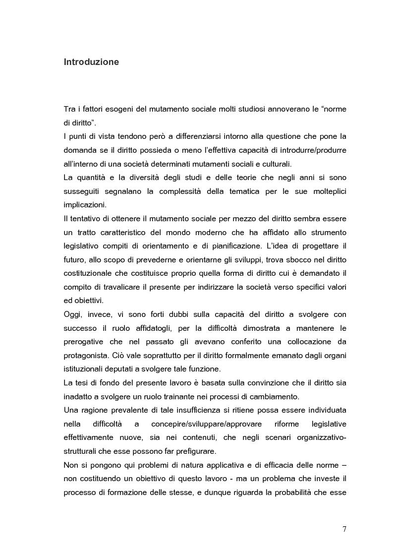 Anteprima della tesi: Il processo di formazione delle norme legislative tra stabilità e mutamento: il caso della riforma penitenziaria, Pagina 3