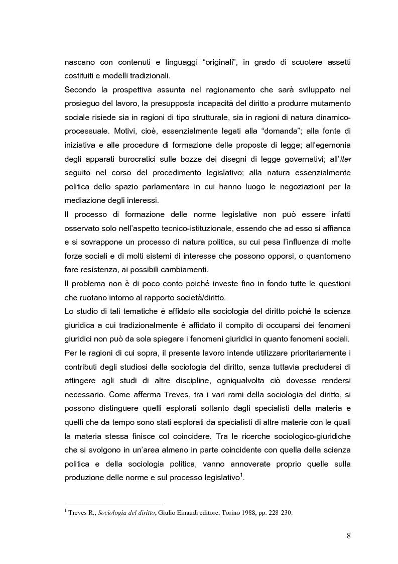 Anteprima della tesi: Il processo di formazione delle norme legislative tra stabilità e mutamento: il caso della riforma penitenziaria, Pagina 4