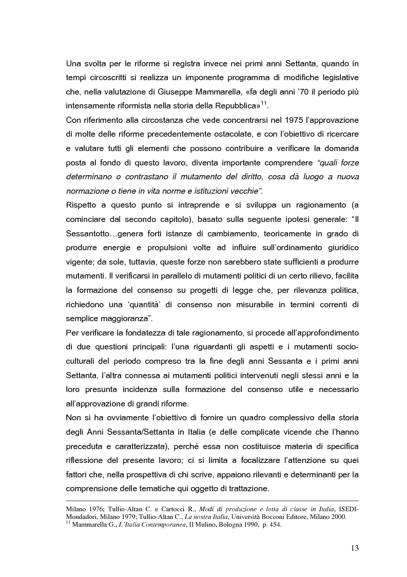 Anteprima della tesi: Il processo di formazione delle norme legislative tra stabilità e mutamento: il caso della riforma penitenziaria, Pagina 9
