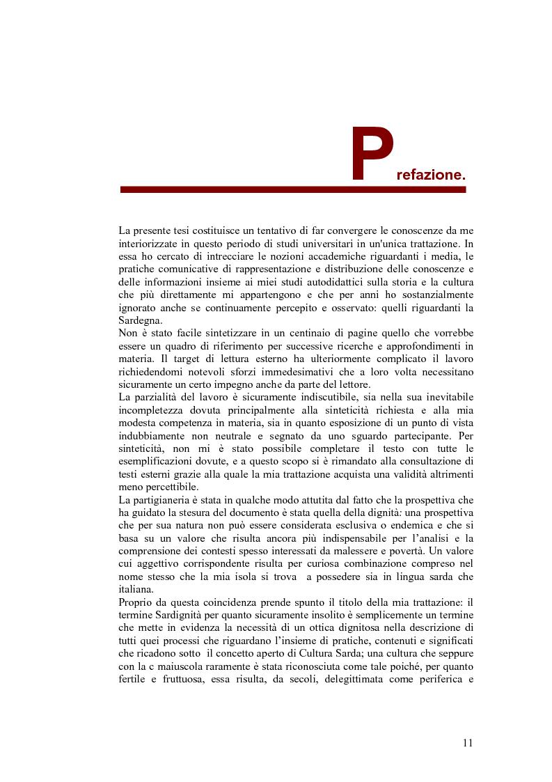 Anteprima della tesi: SARDignità. Interiorizzazioni mediatiche e pratiche autorappresentative in Sardegna., Pagina 1