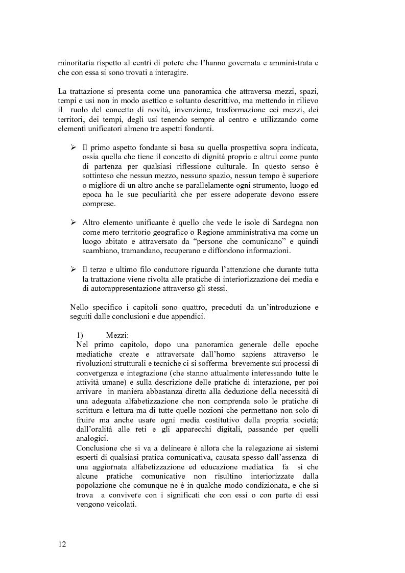 Anteprima della tesi: SARDignità. Interiorizzazioni mediatiche e pratiche autorappresentative in Sardegna., Pagina 2