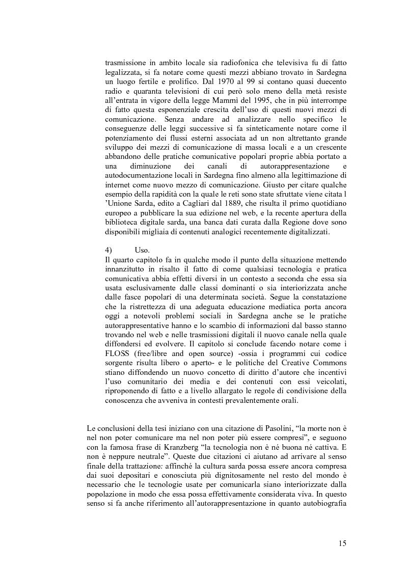 Anteprima della tesi: SARDignità. Interiorizzazioni mediatiche e pratiche autorappresentative in Sardegna., Pagina 5