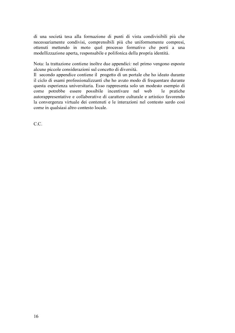 Anteprima della tesi: SARDignità. Interiorizzazioni mediatiche e pratiche autorappresentative in Sardegna., Pagina 6