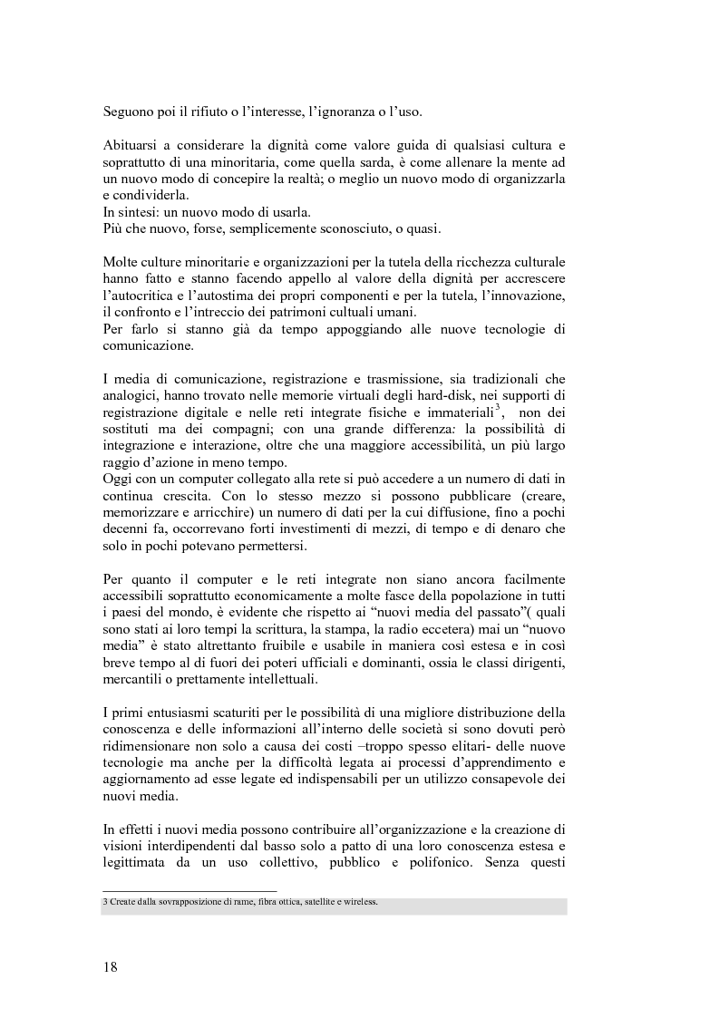 Anteprima della tesi: SARDignità. Interiorizzazioni mediatiche e pratiche autorappresentative in Sardegna., Pagina 8