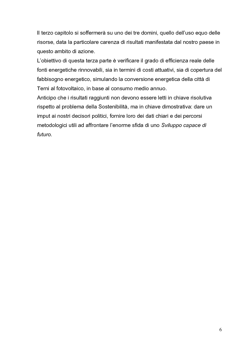Anteprima della tesi: Lo sviluppo sostenibile - Etica e politica per un futuro possibile, Pagina 6