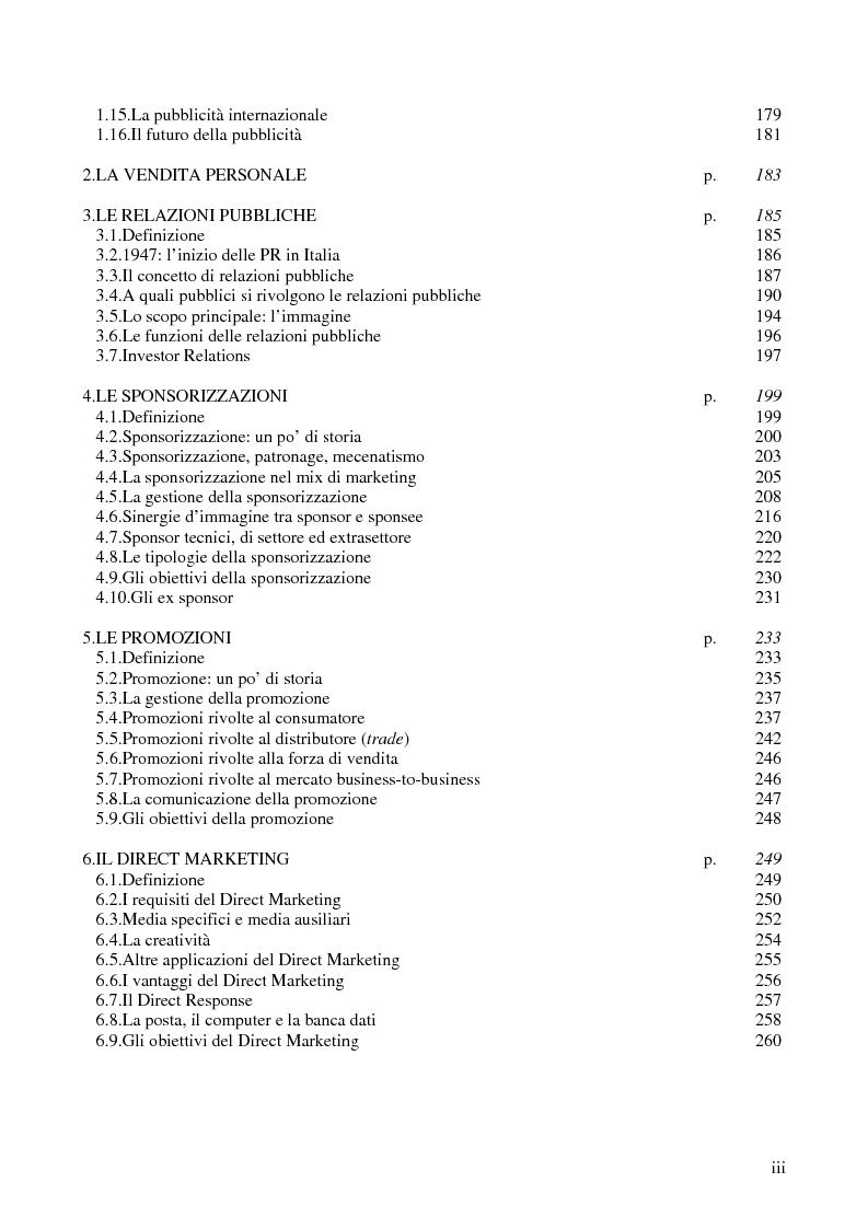 Indice della tesi: La comunicazione corporate: dalle relazioni pubbliche all'editoria culturale, Pagina 3