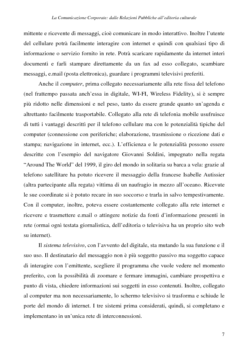Anteprima della tesi: La comunicazione corporate: dalle relazioni pubbliche all'editoria culturale, Pagina 10