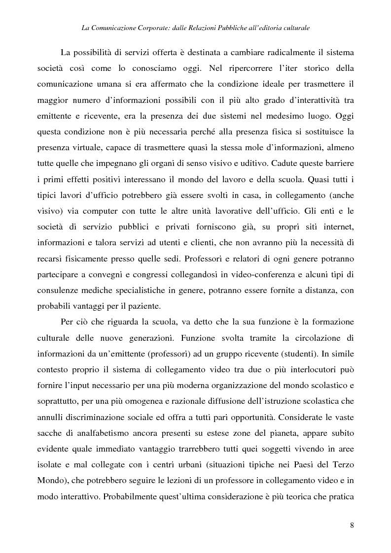 Anteprima della tesi: La comunicazione corporate: dalle relazioni pubbliche all'editoria culturale, Pagina 11