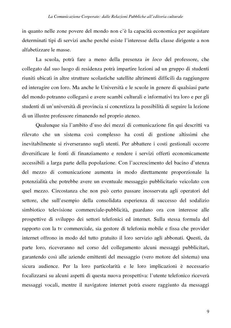 Anteprima della tesi: La comunicazione corporate: dalle relazioni pubbliche all'editoria culturale, Pagina 12