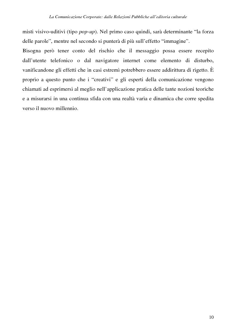 Anteprima della tesi: La comunicazione corporate: dalle relazioni pubbliche all'editoria culturale, Pagina 13