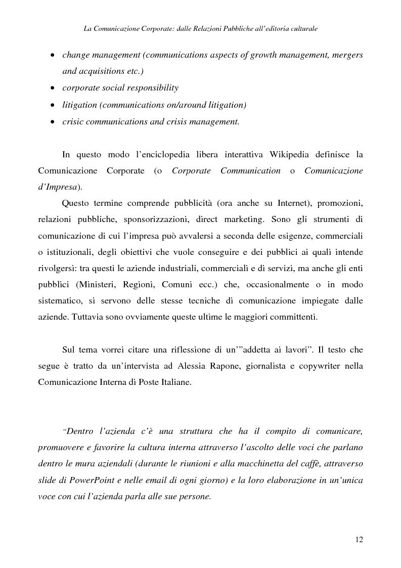 Anteprima della tesi: La comunicazione corporate: dalle relazioni pubbliche all'editoria culturale, Pagina 15