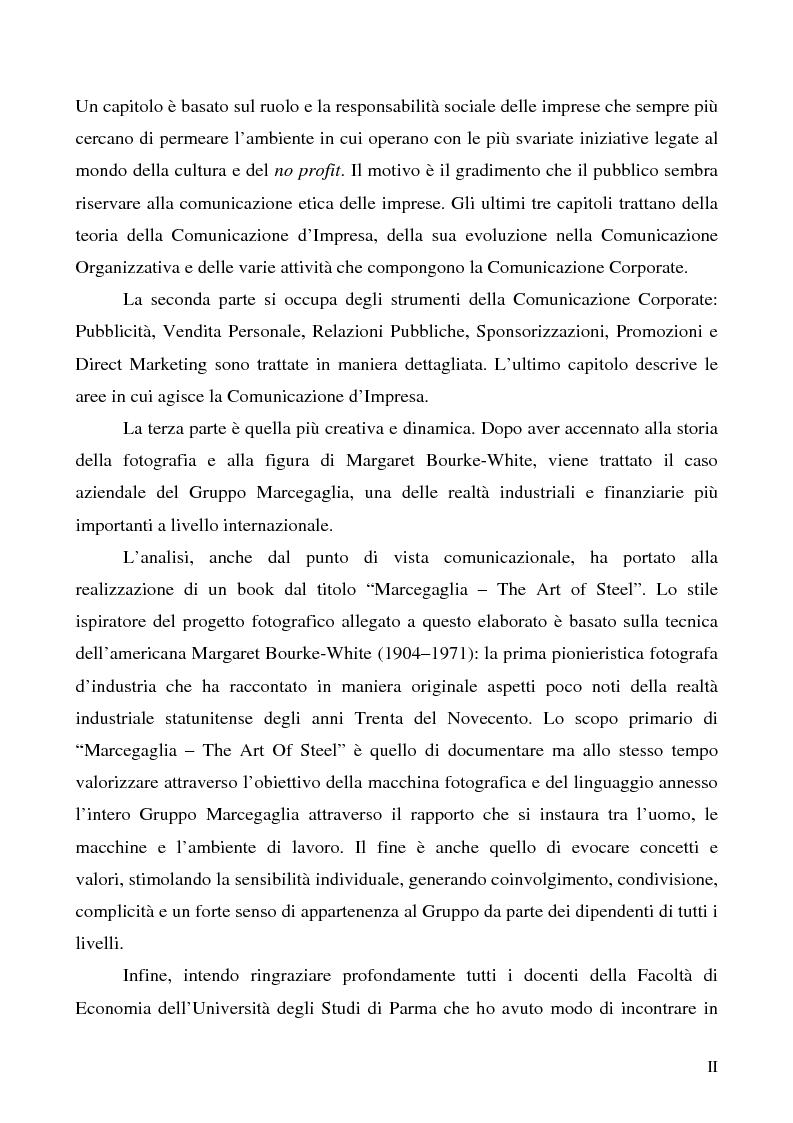 Anteprima della tesi: La comunicazione corporate: dalle relazioni pubbliche all'editoria culturale, Pagina 2