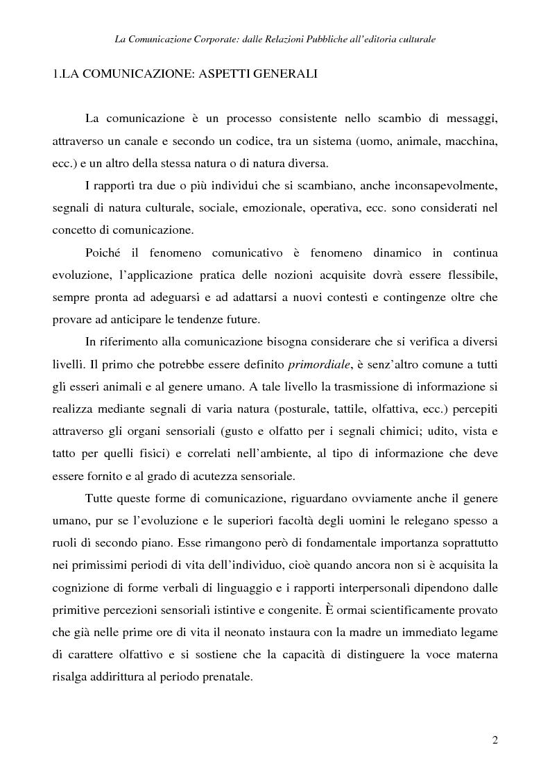 Anteprima della tesi: La comunicazione corporate: dalle relazioni pubbliche all'editoria culturale, Pagina 5