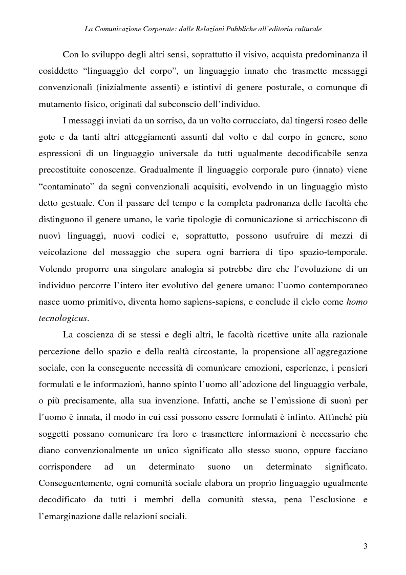 Anteprima della tesi: La comunicazione corporate: dalle relazioni pubbliche all'editoria culturale, Pagina 6