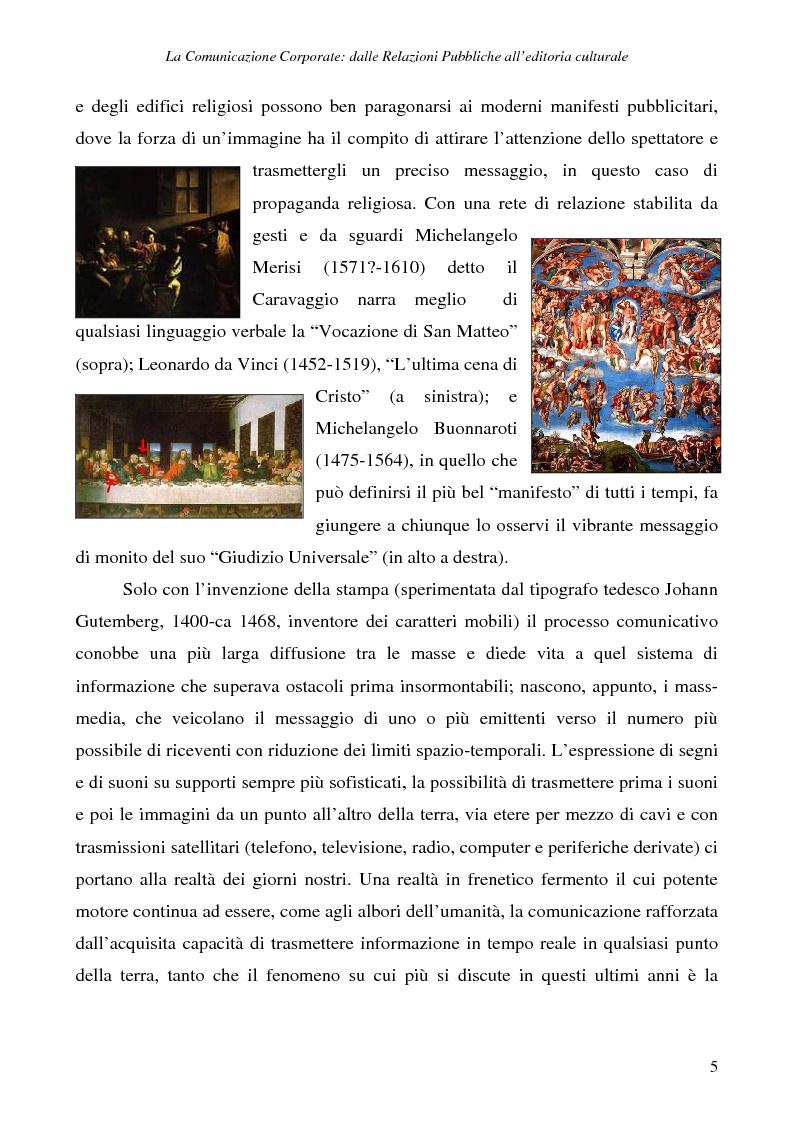 Anteprima della tesi: La comunicazione corporate: dalle relazioni pubbliche all'editoria culturale, Pagina 8