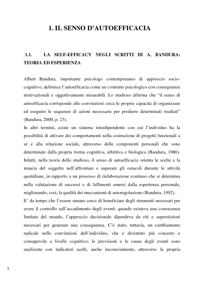 Anteprima della tesi: Senso d'autoefficacia e negoziazione - Esempio di un'agenzia del lavoro nel rapporto col cliente: dalla presentazione alla visita, Pagina 3