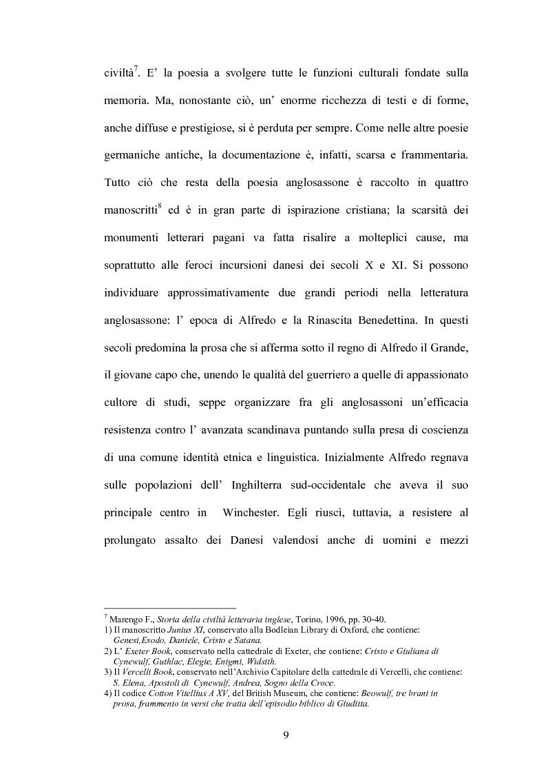 Anteprima della tesi: La battaglia di Brunanburh, Pagina 8