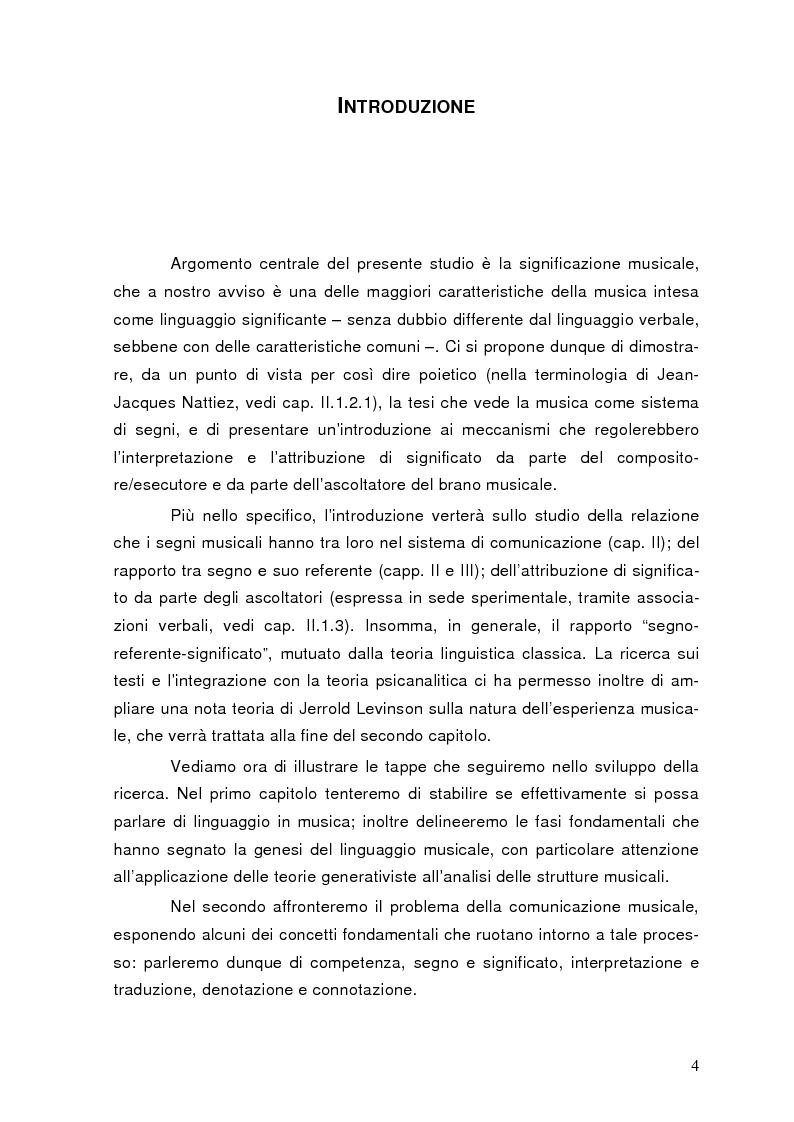 Anteprima della tesi: La semiolinguistica della musica. Varie tendenze nell'interpretazione e analisi dell'evento musicale, Pagina 1