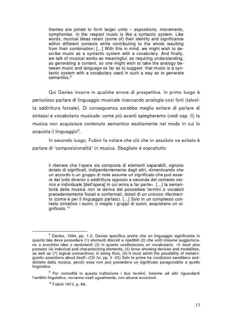 Anteprima della tesi: La semiolinguistica della musica. Varie tendenze nell'interpretazione e analisi dell'evento musicale, Pagina 10