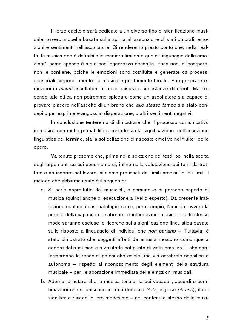 Anteprima della tesi: La semiolinguistica della musica. Varie tendenze nell'interpretazione e analisi dell'evento musicale, Pagina 2