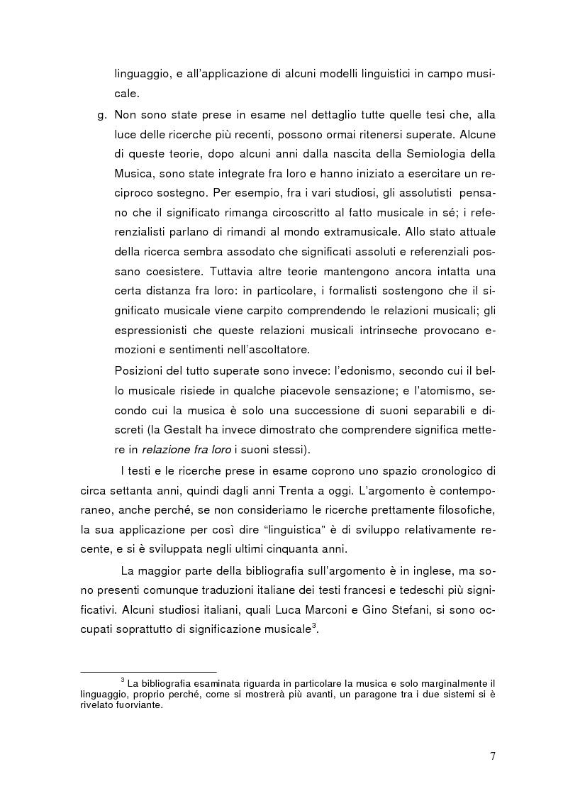 Anteprima della tesi: La semiolinguistica della musica. Varie tendenze nell'interpretazione e analisi dell'evento musicale, Pagina 4
