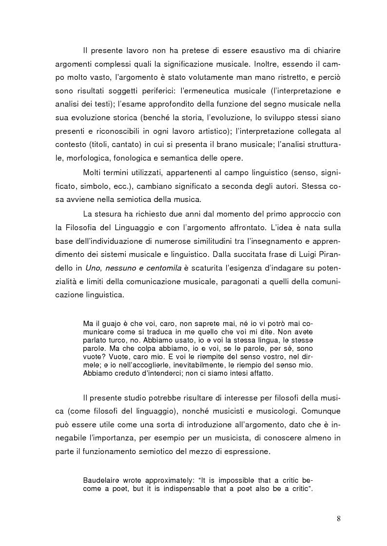 Anteprima della tesi: La semiolinguistica della musica. Varie tendenze nell'interpretazione e analisi dell'evento musicale, Pagina 5