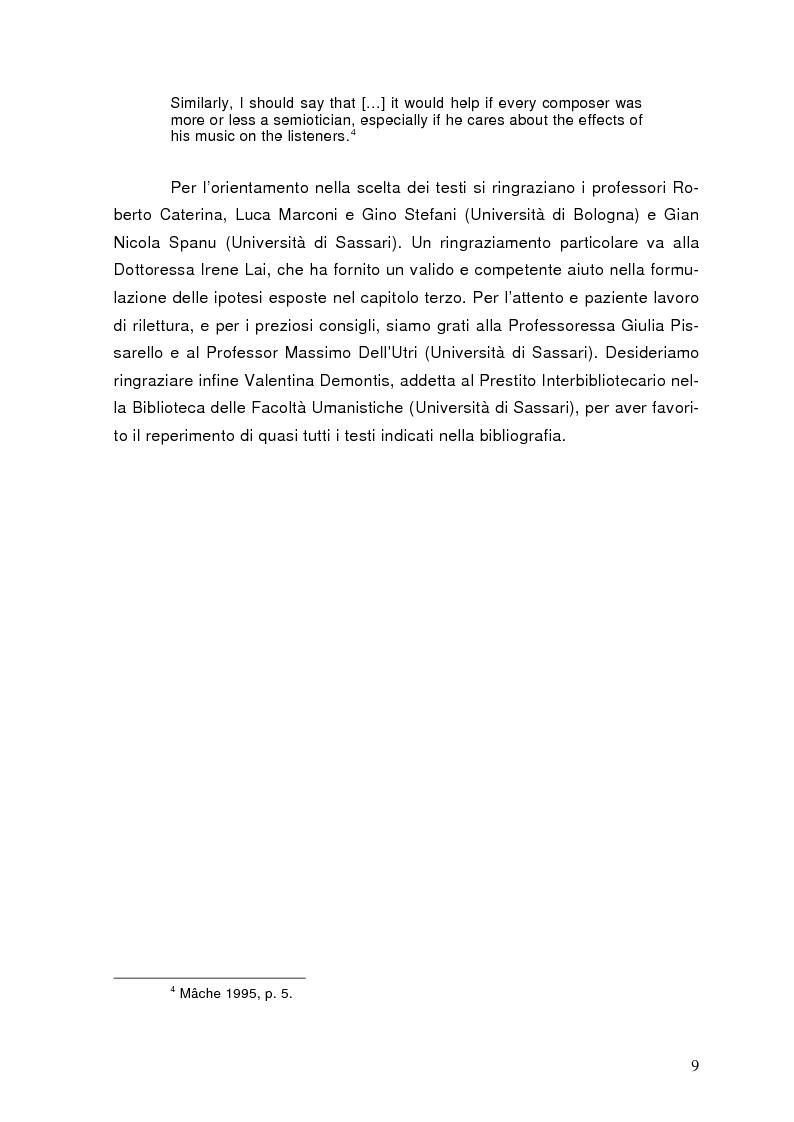 Anteprima della tesi: La semiolinguistica della musica. Varie tendenze nell'interpretazione e analisi dell'evento musicale, Pagina 6