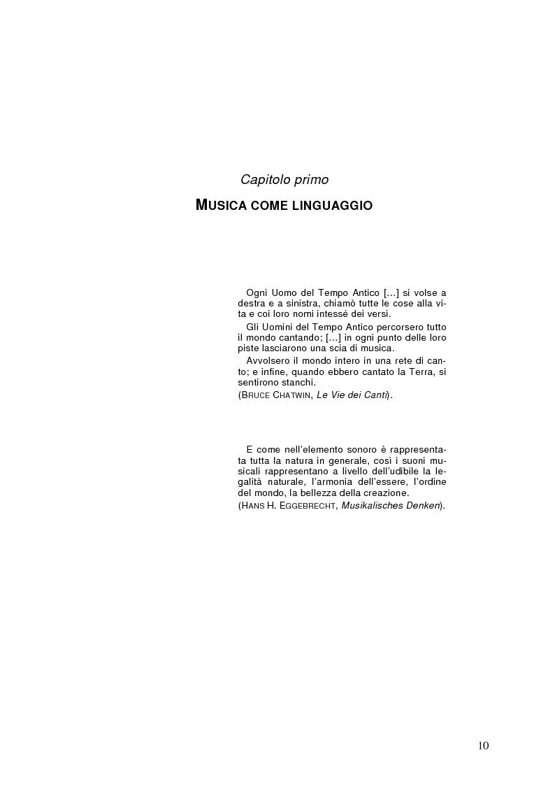 Anteprima della tesi: La semiolinguistica della musica. Varie tendenze nell'interpretazione e analisi dell'evento musicale, Pagina 7