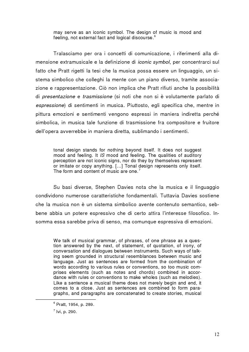 Anteprima della tesi: La semiolinguistica della musica. Varie tendenze nell'interpretazione e analisi dell'evento musicale, Pagina 9