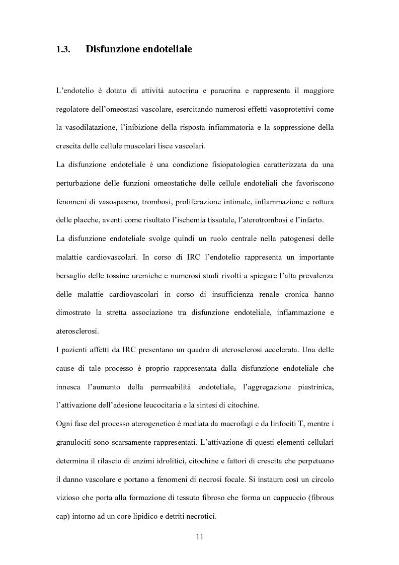 Anteprima della tesi: Il mantenimento della funzione renale residua influenza l'outcome dei pazienti in emodialisi?, Pagina 9