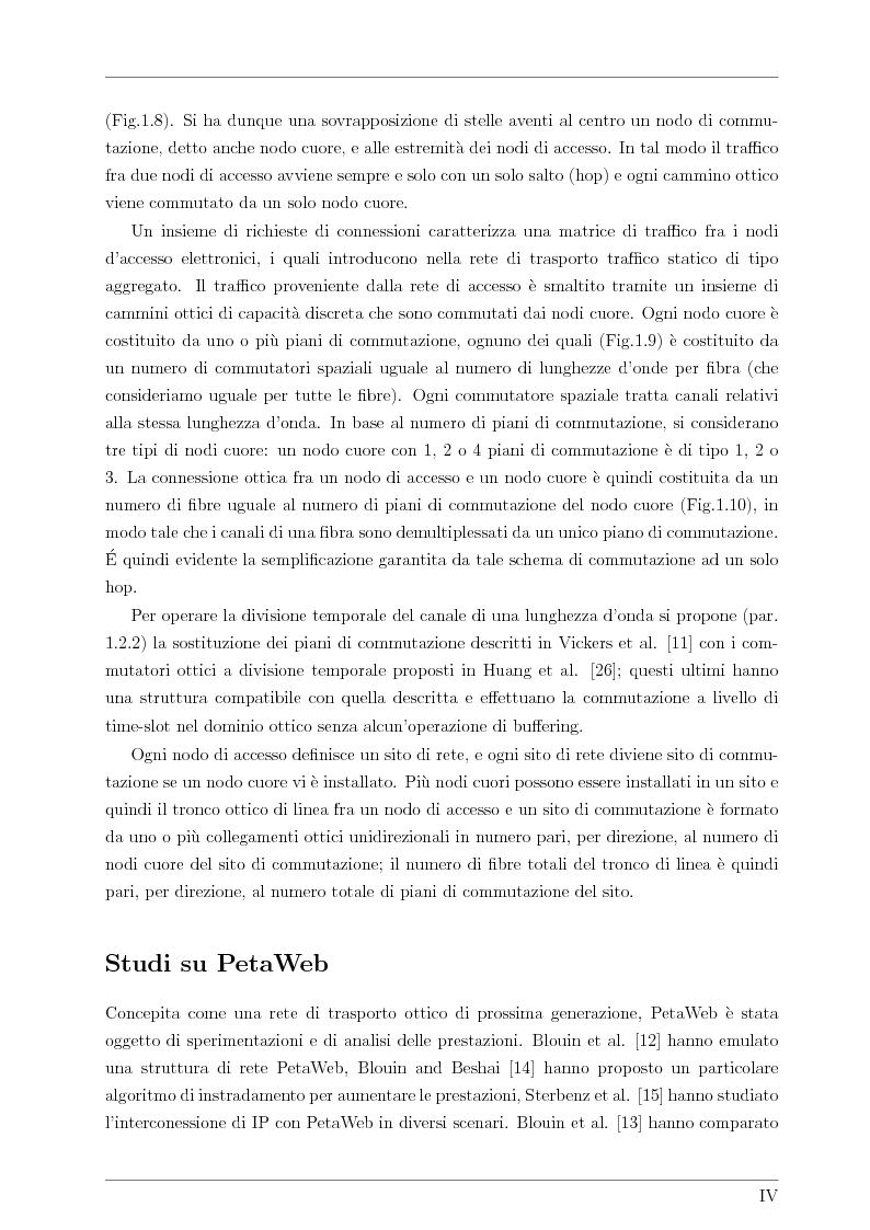Anteprima della tesi: Design and Optimisation of a Novel Composite-Star TDM/WDM Network Architecture: the Petaweb, Pagina 2