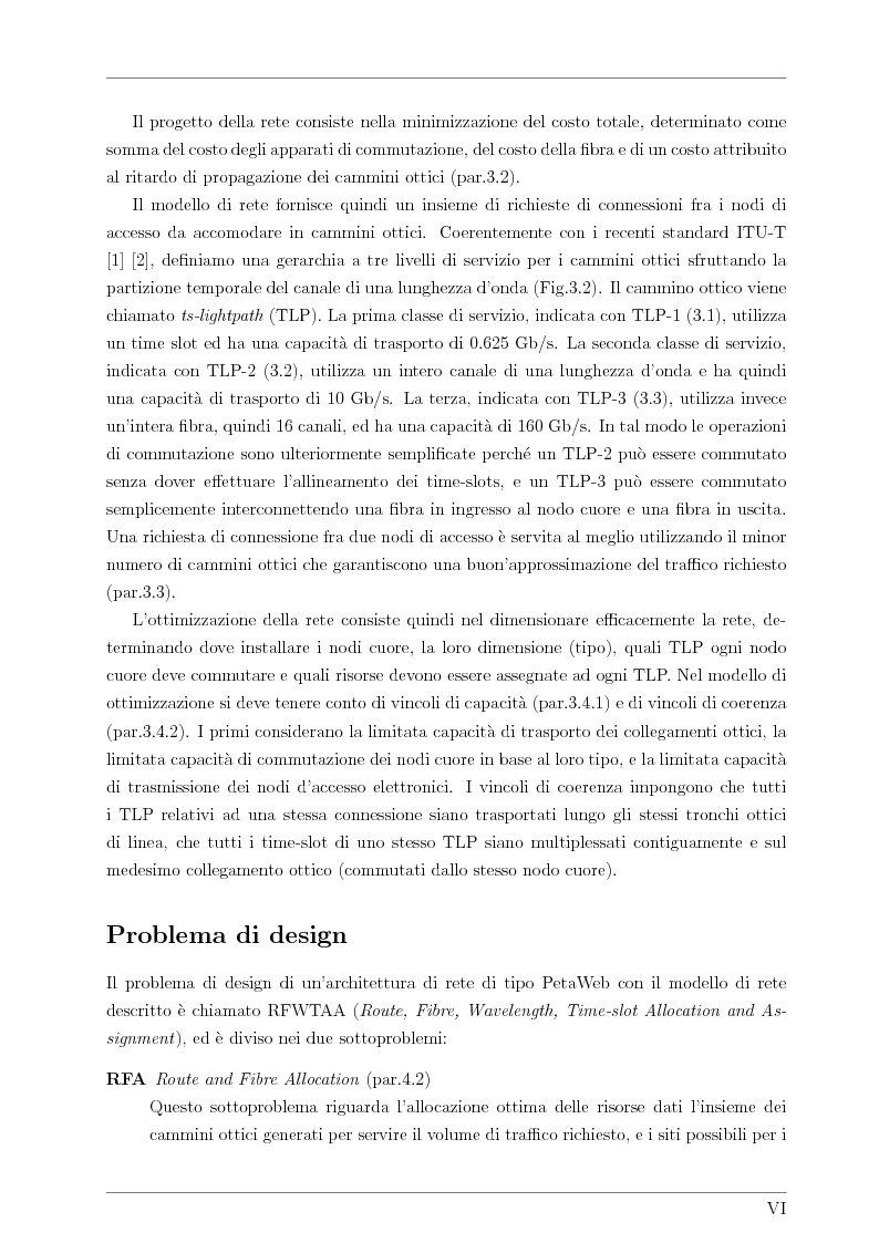 Anteprima della tesi: Design and Optimisation of a Novel Composite-Star TDM/WDM Network Architecture: the Petaweb, Pagina 4