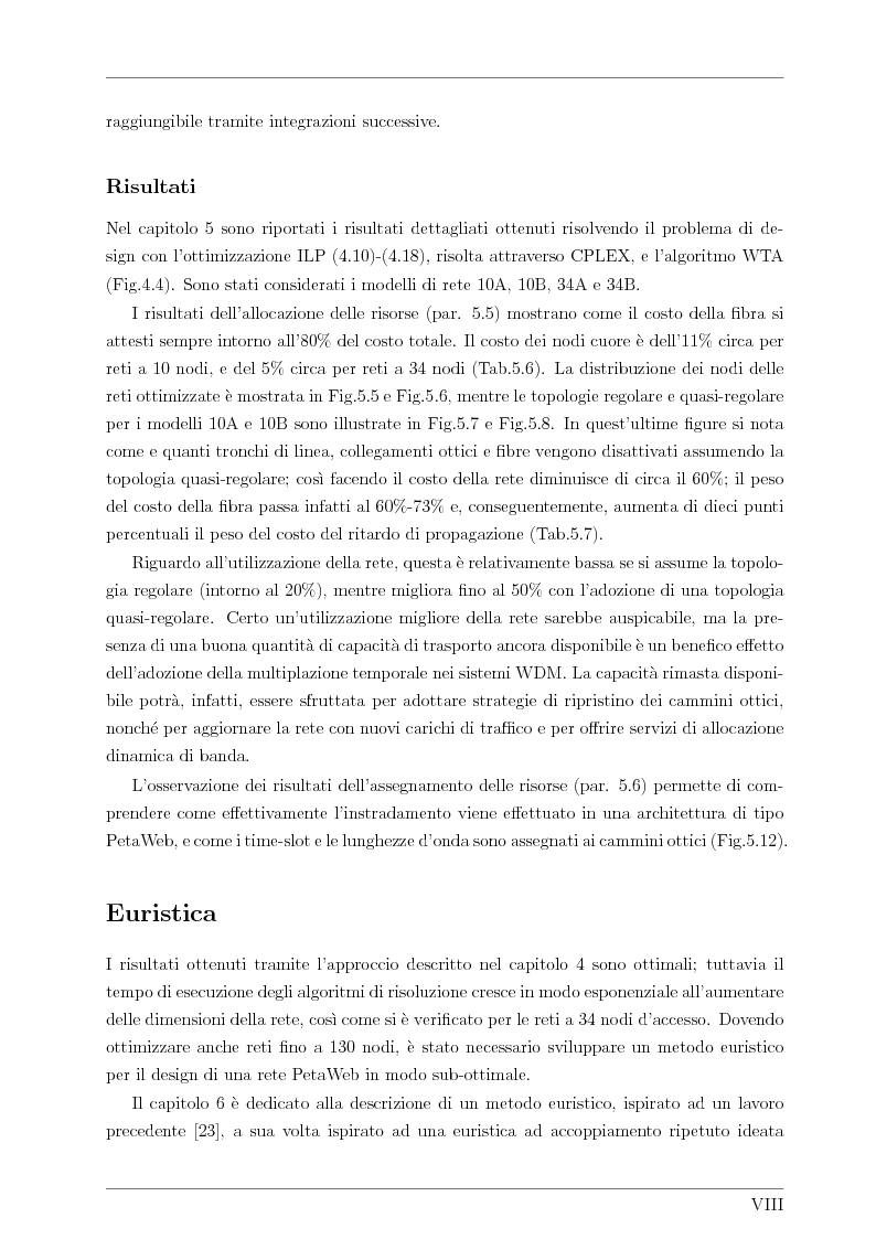 Anteprima della tesi: Design and Optimisation of a Novel Composite-Star TDM/WDM Network Architecture: the Petaweb, Pagina 6
