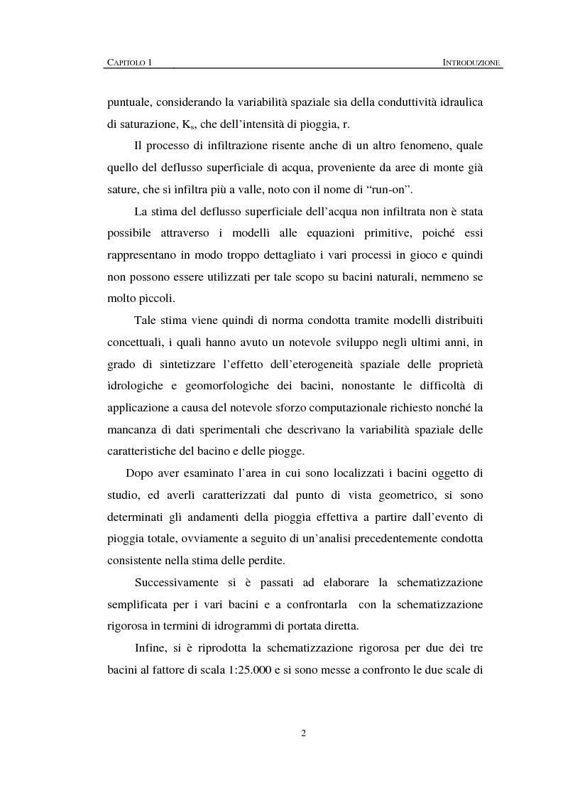 Anteprima della tesi: Sulla rappresentazione geometrica di piccoli bacini idrografici, Pagina 2