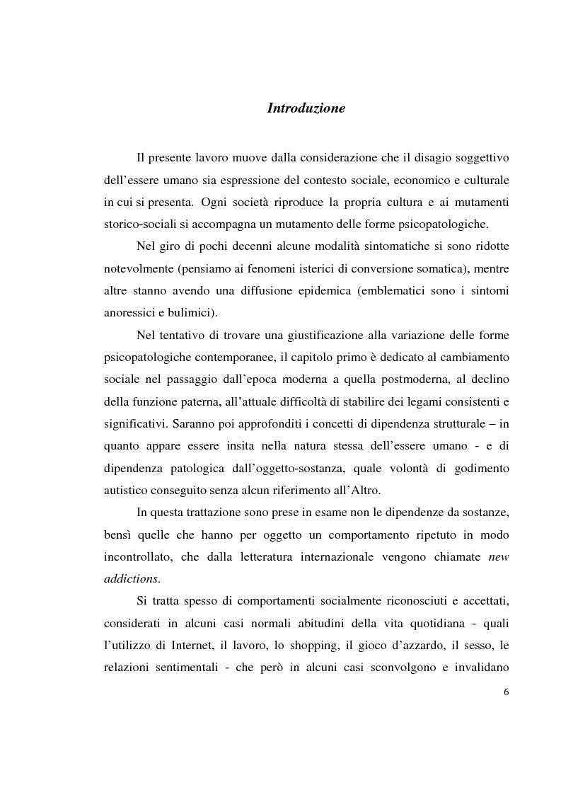 Anteprima della tesi: Shopping compulsivo e gioco d'azzardo - Dinamiche psicologiche di due nuove dipendenze, Pagina 2
