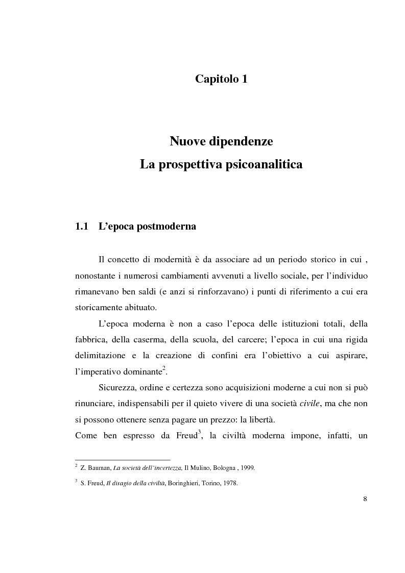 Anteprima della tesi: Shopping compulsivo e gioco d'azzardo - Dinamiche psicologiche di due nuove dipendenze, Pagina 4