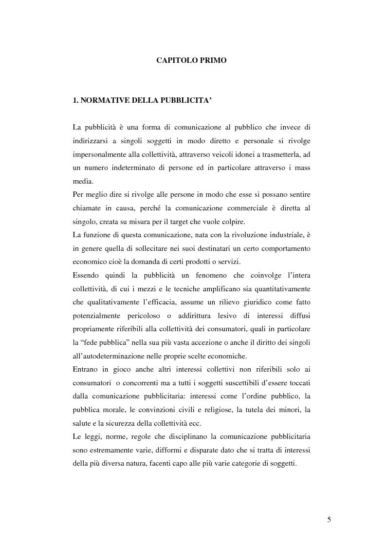 Anteprima della tesi: Codice della comunicazione commerciale, Pagina 3