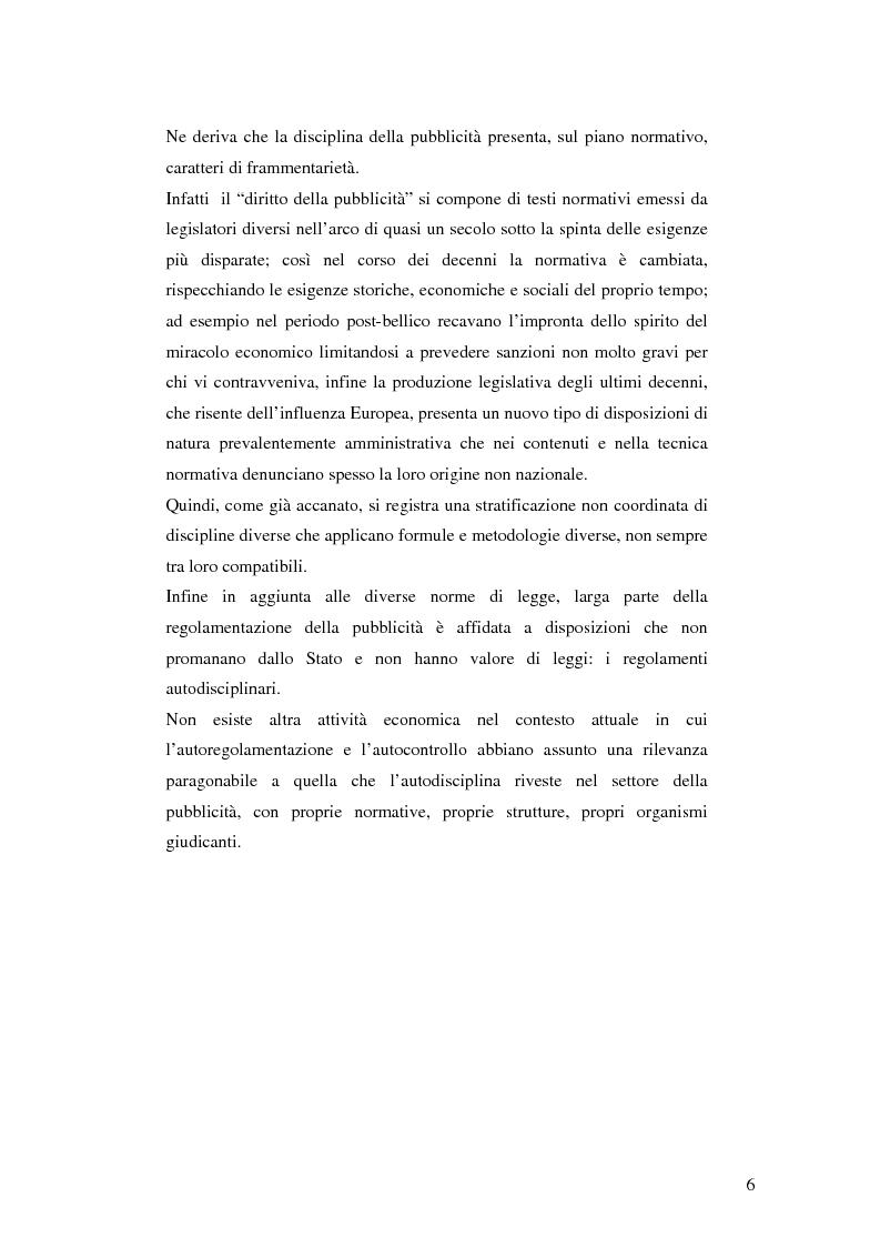 Anteprima della tesi: Codice della comunicazione commerciale, Pagina 4