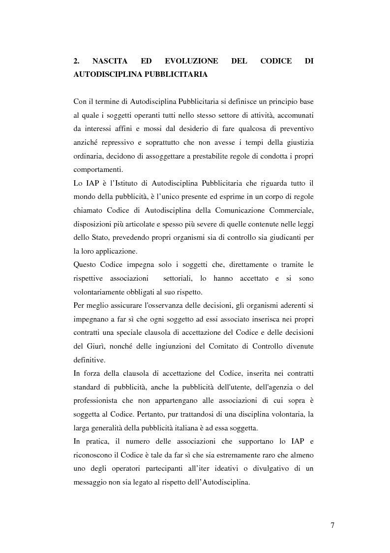 Anteprima della tesi: Codice della comunicazione commerciale, Pagina 5