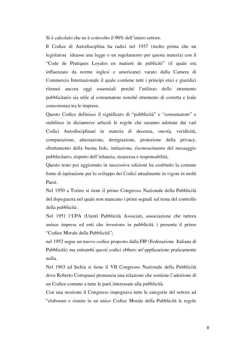 Anteprima della tesi: Codice della comunicazione commerciale, Pagina 6