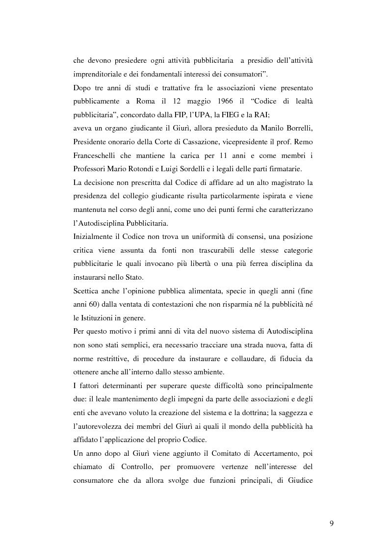 Anteprima della tesi: Codice della comunicazione commerciale, Pagina 7