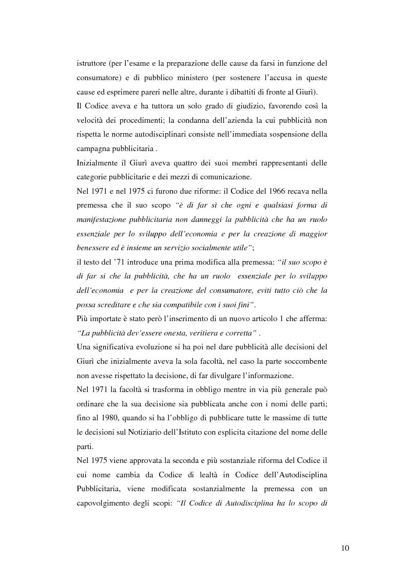 Anteprima della tesi: Codice della comunicazione commerciale, Pagina 8