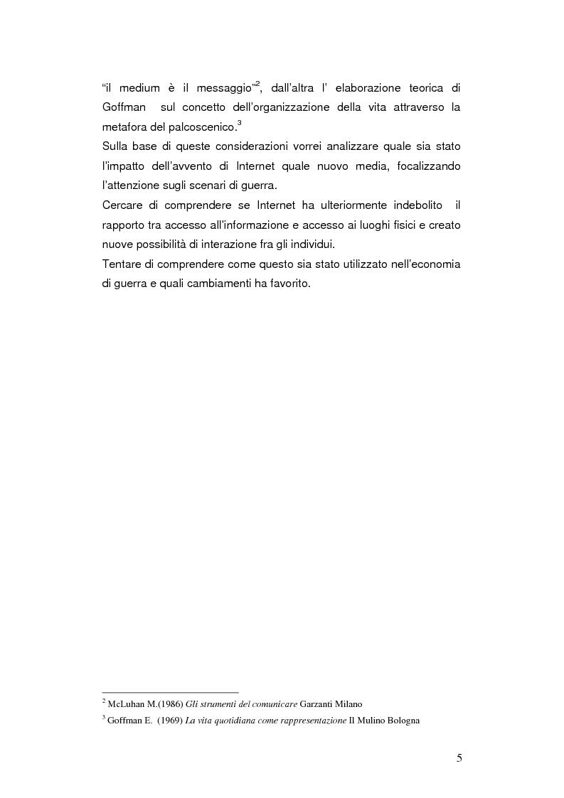 Anteprima della tesi: Internet negli scenari di guerra. Analisi dei possibili cambiamenti sociali. Il caso Iraq., Pagina 2