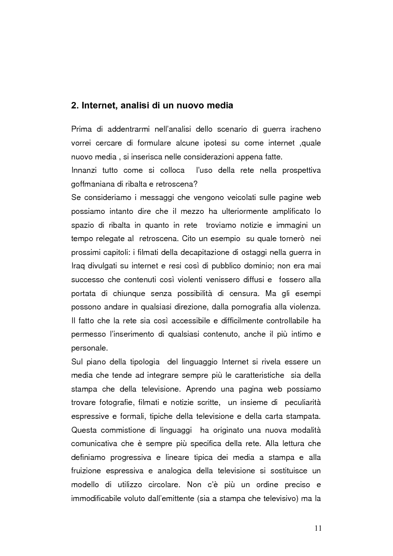 Anteprima della tesi: Internet negli scenari di guerra. Analisi dei possibili cambiamenti sociali. Il caso Iraq., Pagina 8