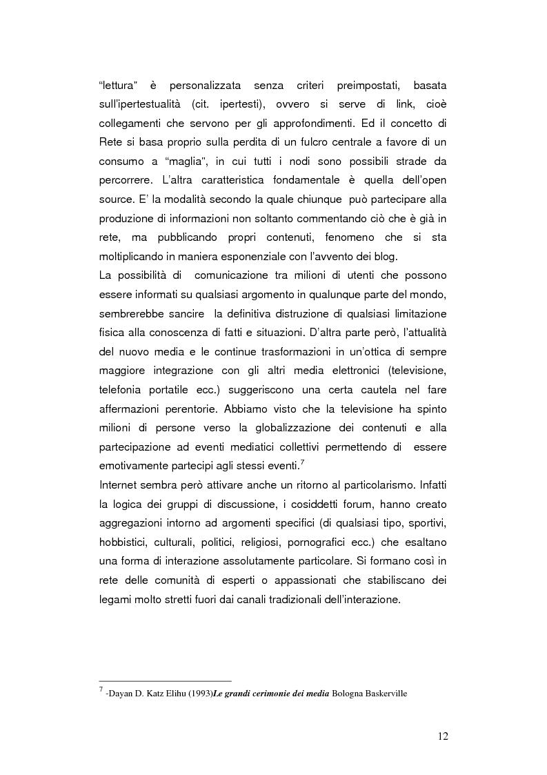 Anteprima della tesi: Internet negli scenari di guerra. Analisi dei possibili cambiamenti sociali. Il caso Iraq., Pagina 9