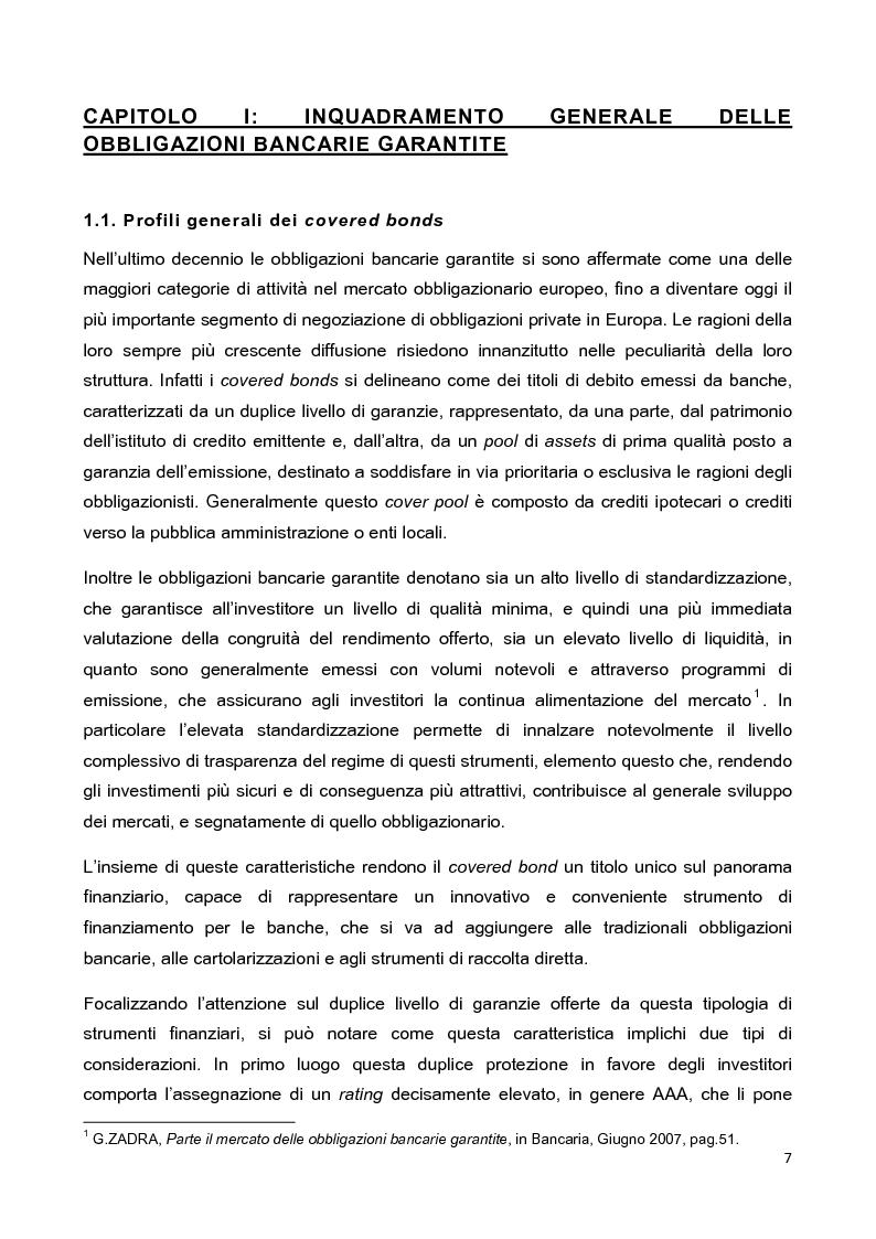 Anteprima della tesi: La disciplina delle obbligazioni bancarie garantite in Italia ed in Inghilterra: due esperienze giuridiche a confronto, Pagina 2