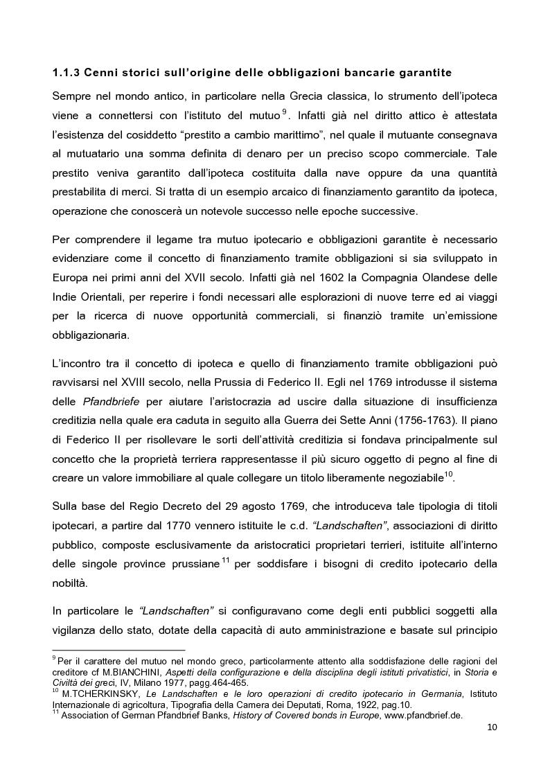 Anteprima della tesi: La disciplina delle obbligazioni bancarie garantite in Italia ed in Inghilterra: due esperienze giuridiche a confronto, Pagina 5