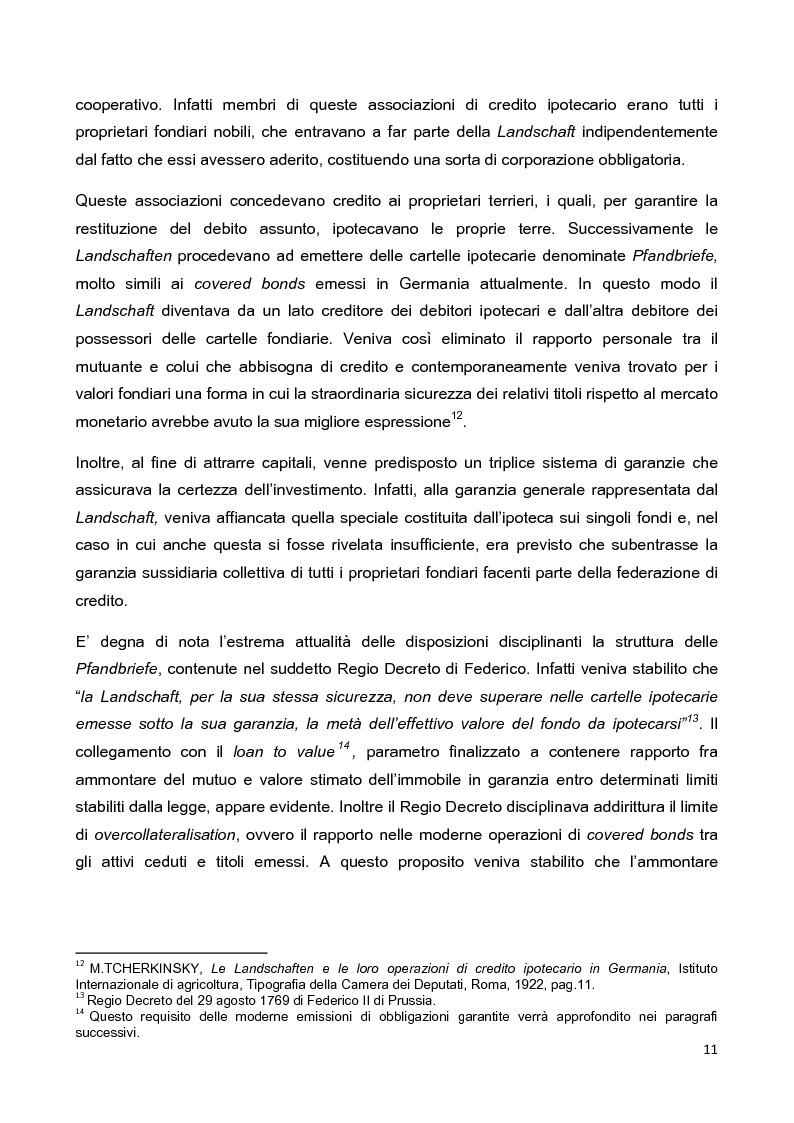 Anteprima della tesi: La disciplina delle obbligazioni bancarie garantite in Italia ed in Inghilterra: due esperienze giuridiche a confronto, Pagina 6