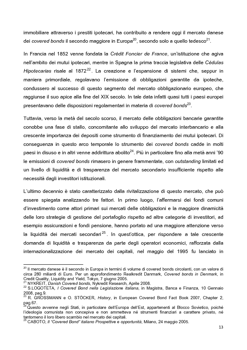 Anteprima della tesi: La disciplina delle obbligazioni bancarie garantite in Italia ed in Inghilterra: due esperienze giuridiche a confronto, Pagina 8