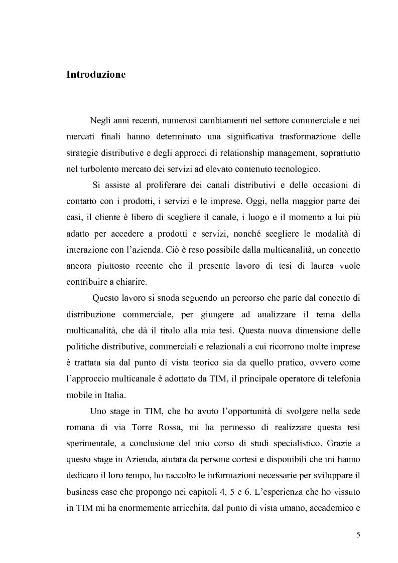 Anteprima della tesi: La multicanalità in un'azienda di telecomunicazioni come strumento di CRM, Pagina 1